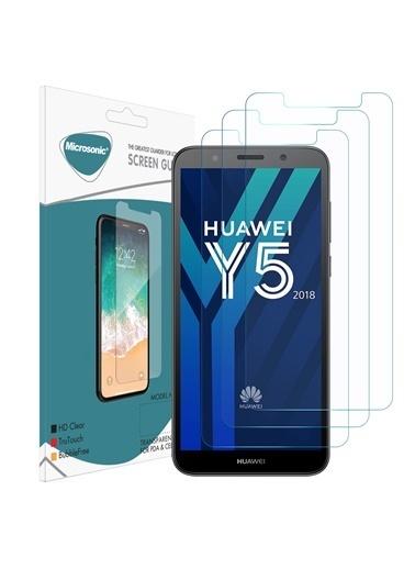 Microsonic Huawei Y5 2018 Ekran Koruyucu Nano Cam (3'lü Paket) Renksiz